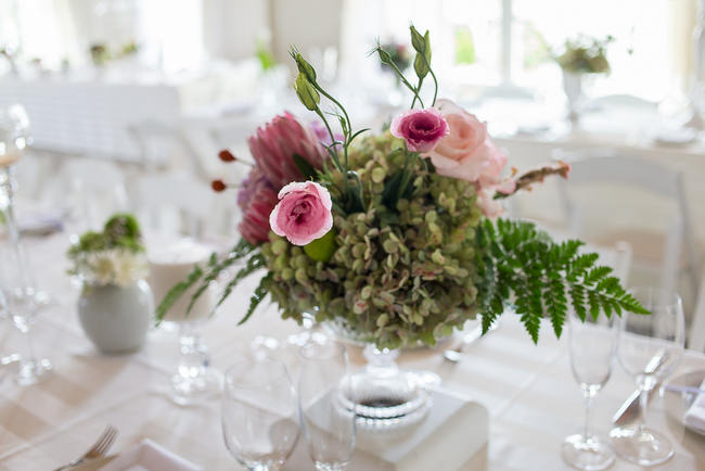 Pink and green Fresh, Modern Country Style Wedding Flowers // Jo Ann Stokes Photography