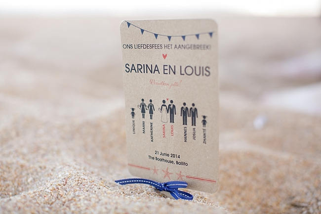 wedding program // Nautical Beach Wedding Ceremony in Coral and Navy  // Jack and Jane Photography