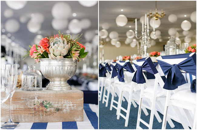 Nautical Beach Wedding in Coral and Navy {Jack and Jane Photography}