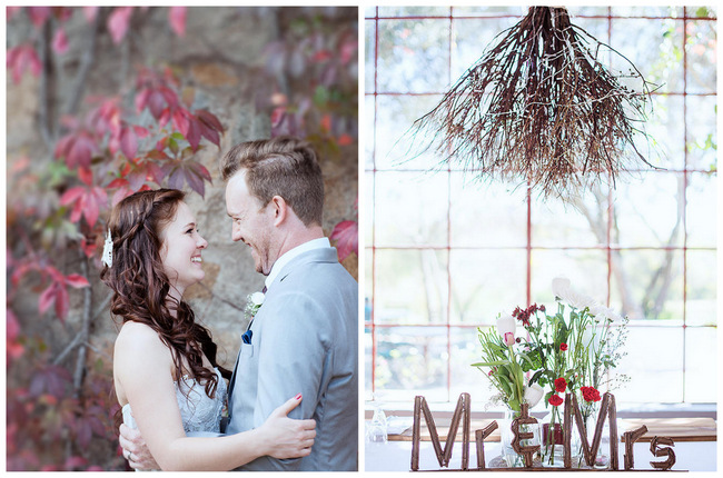 DIY Autumn Wedding in Red, Brown & White {Christopher Smith Photography}