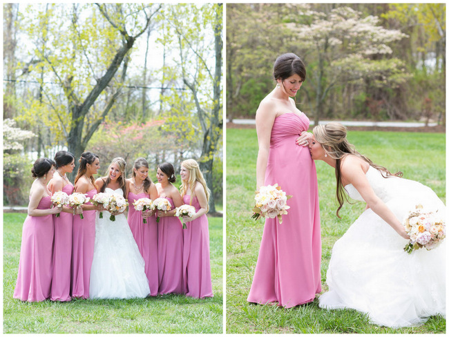Bridesmaid Dresses  //  Beautiful Rustic Elegance Wedding in Blush Cream Gold // Carly Fuller Photography // Click for more details on www.ConfettiDaydreams.com