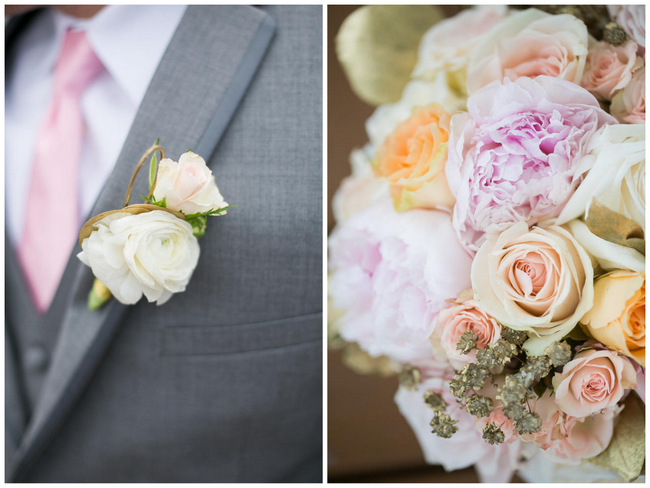 Beautiful Rustic Elegance Wedding in Blush Cream Gold // Carly Fuller Photography // Click for more details on www.ConfettiDaydreams.com