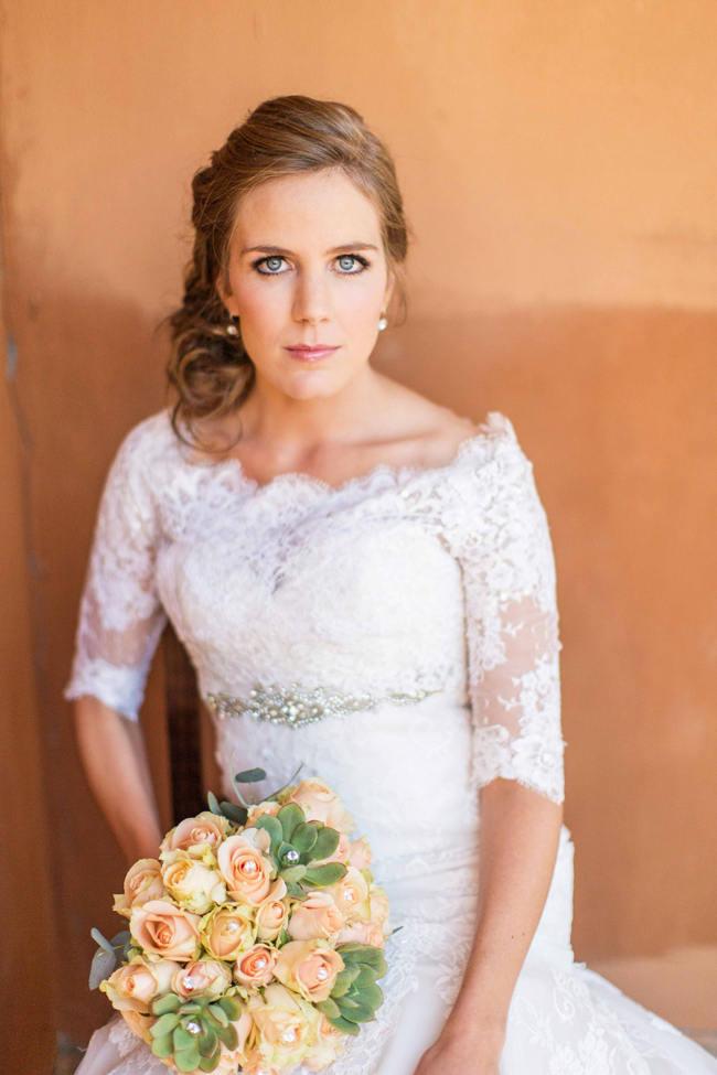 // Rustic South African Farm Wedding in Peach // Marli Koen Photography