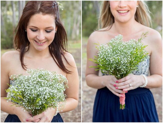 Babys breath bouquet //Rustic South African Farm Wedding in Peach // Marli Koen Photography