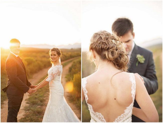 Couple Photographs // Rustic South African Farm Wedding in Peach // Marli Koen Photography