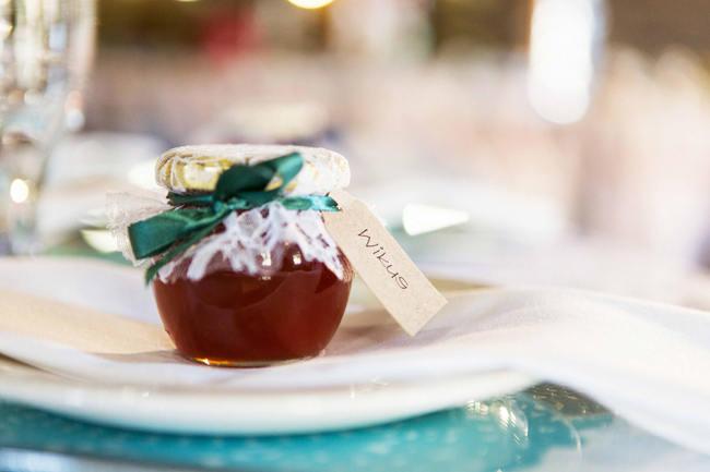 DIY Jam Wedding Favor / Rustic South African Farm Wedding in Peach // Marli Koen Photography