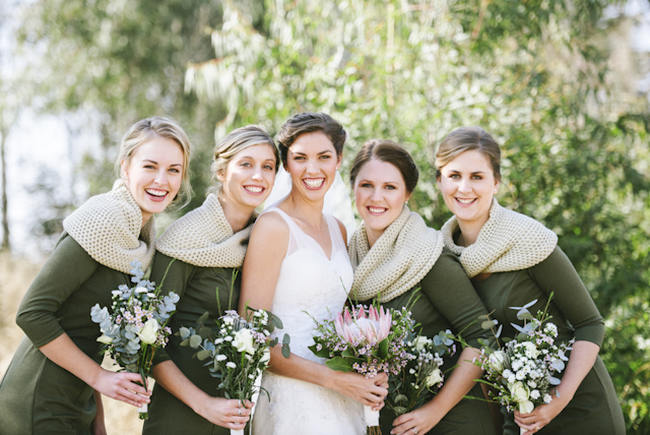 Sage Green Bridesmaids // Relaxed, Picnic Style Farm Wedding // Micaela De Freitas Photography