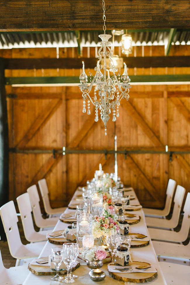 Vintage Chic Barn Wedding Reception // Louise Vorster Photography