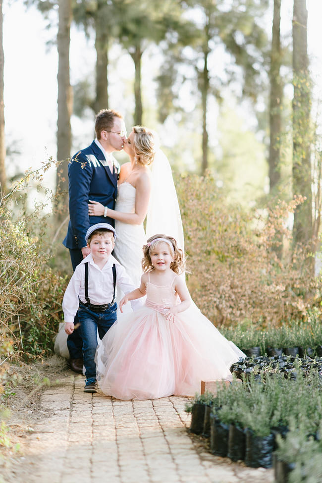 Flower girl and page boy // Vintage Chic Barn Wedding at Rosemary Hill // Louise Vorster Photography