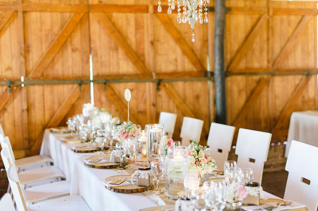 Tablescape // Vintage Chic Barn Wedding Reception // Louise Vorster Photography