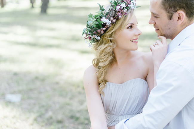 Purple Lavender Crown // The MOST gorgeous whimsical Boho Forest Engagement ever by Louise Vorster photography