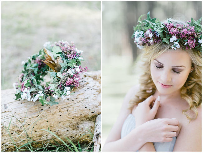 Rustic Flower Crown // The MOST gorgeous whimsical Boho Forest Engagement ever by Louise Vorster photography