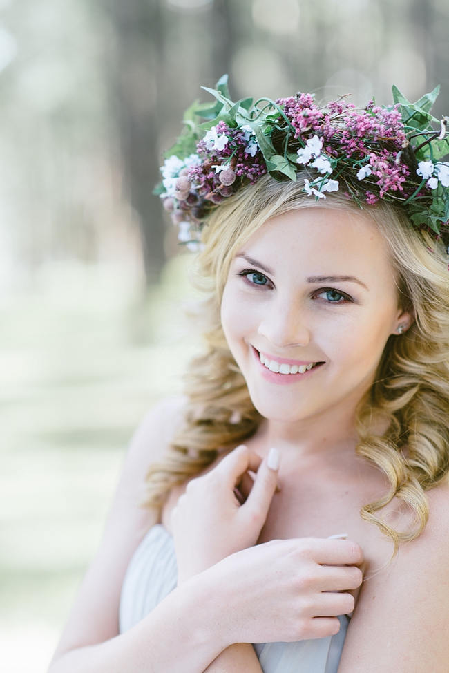 Rustic Purple Flower Crown // The MOST gorgeous whimsical Boho Forest Engagement ever by Louise Vorster photography