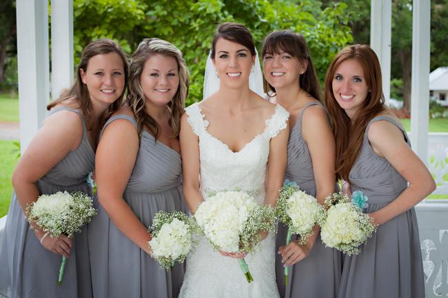 DIY Bridesmaids Babys Breath Bouquet - Country Wedding // Stephanie Dishman Photography