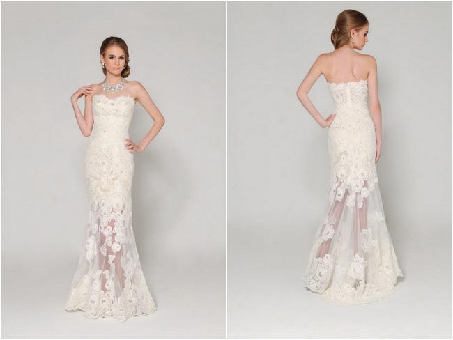 Lace Back Wedding Dress (2)
