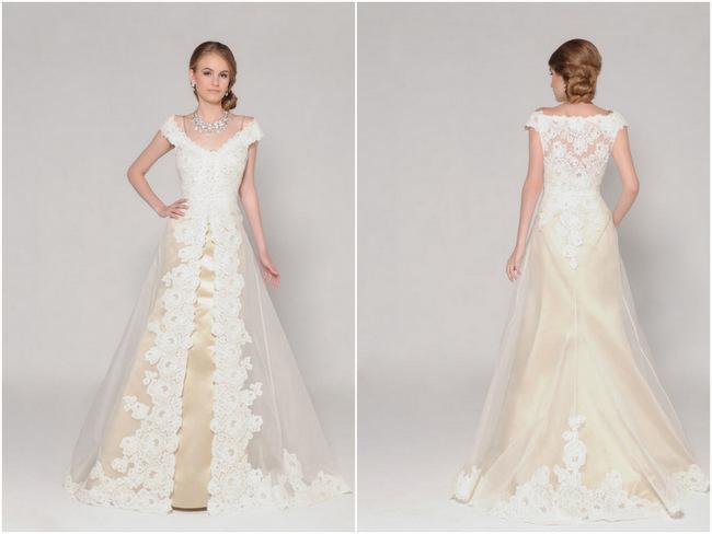 Lace Back Wedding Dress (3)