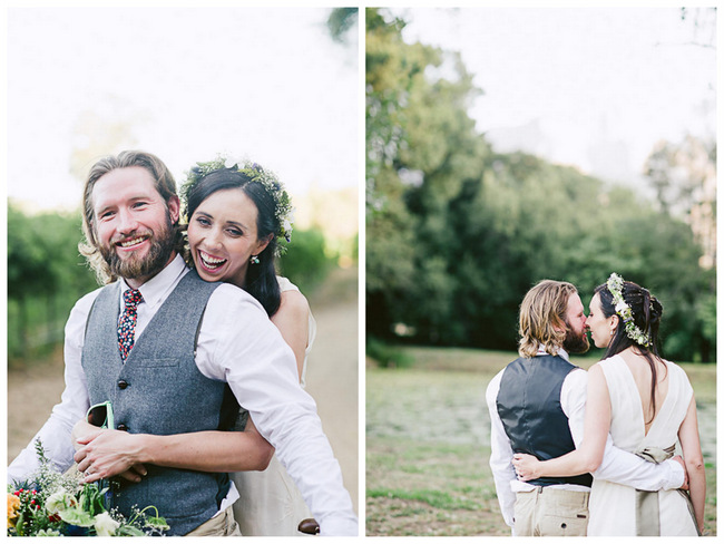 Bicycle-Themed Outdoor Bohemian Wedding {Jules Morgan Photography}