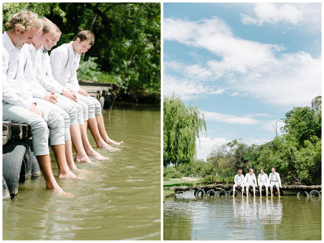 Groomsmen getting ready photo idea // Mint Coral South African Wedding // Louise Vorster Photography