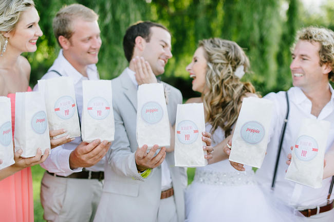 Popcorn! Bridal Party Photo Ideas // Mint Coral South African Wedding // Louise Vorster Photography