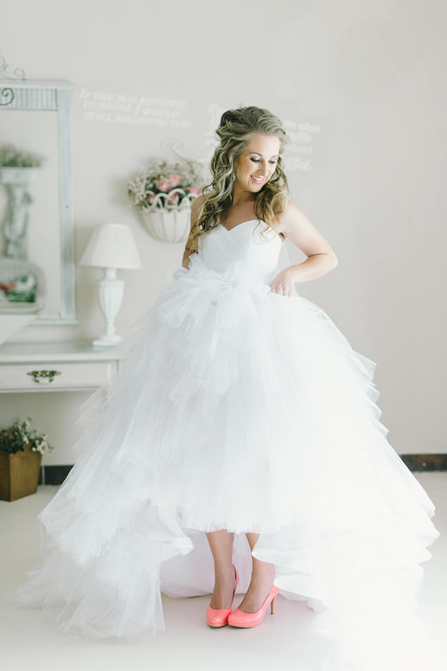 STUNNING wedding dress // Mint Coral South African Wedding // Louise Vorster Photography