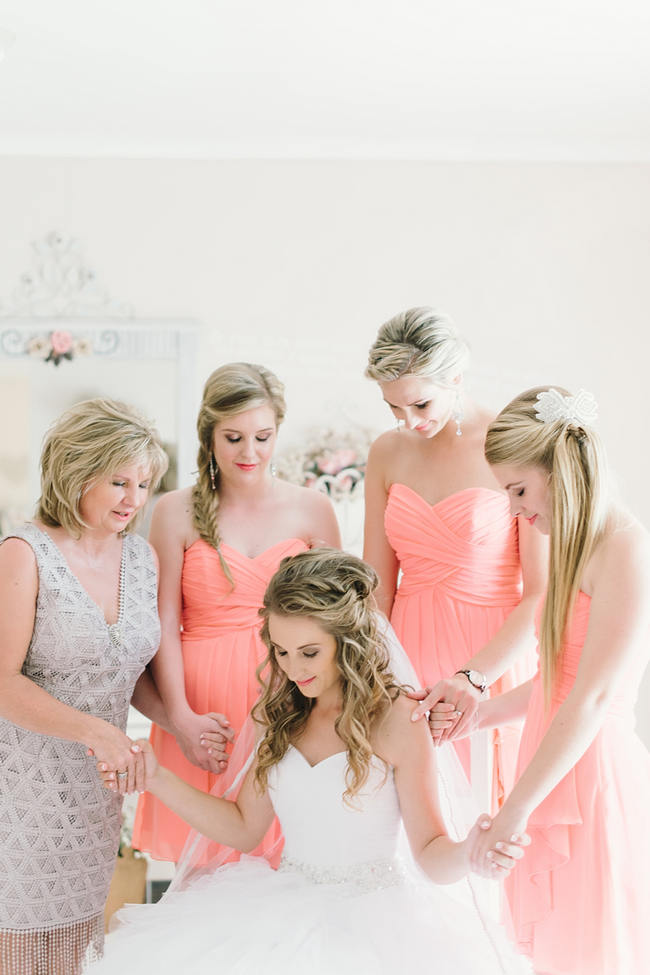 Bridesmaids // Mint Coral South African Wedding // Louise Vorster Photography