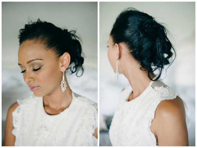 Beautiful Wedding Updo // South African Vivere Country House Wedding // Simone Franzel Photography