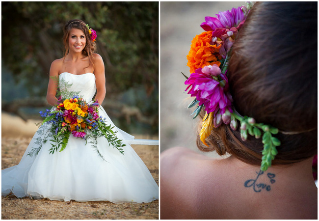 Bright and Bold California Bridal Style {Colson Griffith Photography}
