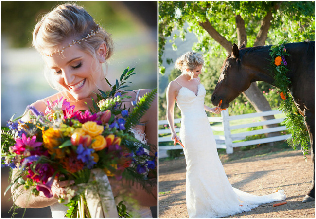Tropical Wedding Flowers// Bright and Bold California Bridal Style // Colson Griffith Photography