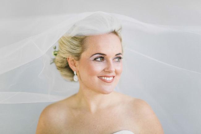 Stunning veil shot! Beautiful Gray and Yellow Winter Wedding / Jenni Elizabeth Photography