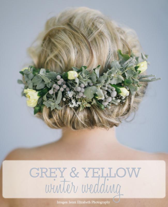 Gray Yellow Winter Wedding (4)