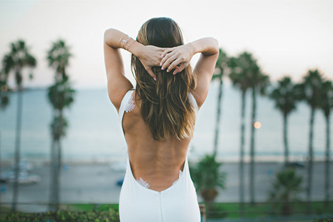 Wedding Dress Spotlight: Katie May's Backless Barcelona Gown {Images by Abbi}