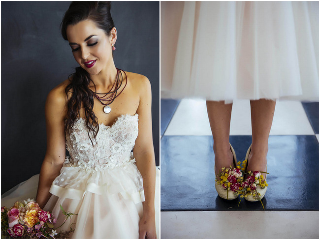 Rockabilly Wedding Dress and Make Up - Bridal Style // Claire Thompson photography