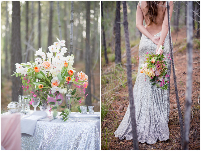 Gorgeous Glitter Wedding in the Forest {Tasha Seccombe Photography}