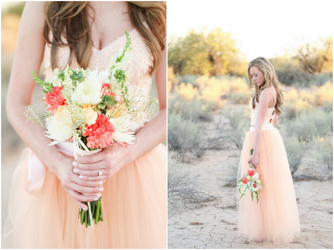 DIY Whimsical Arizona Desert Engagement Shoot {Morgan McLane Photography}