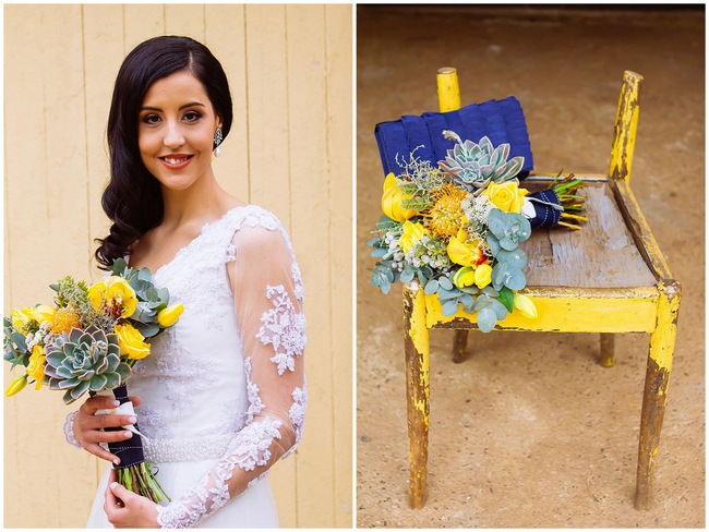 Yummy Navy, Yellow and Grey DIY Vintage Wedding {Miracles Photo}
