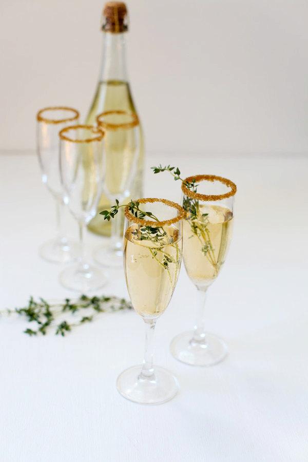 DIY New Years Party Ideas Gold Sugar Glitter