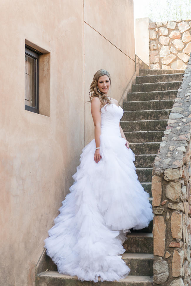 Spectacular ruffled, fluffu Maggie Sottero wedding dress // Lightburst Photography