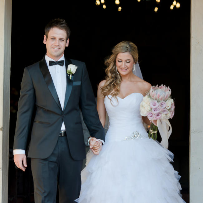 Pink Cream Protea Wedding // Lightburst Photography