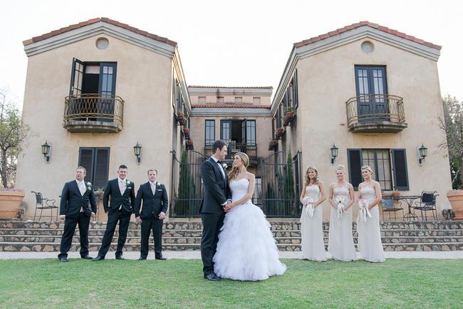 Bridal Party Photo Idea // Pink Cream Protea Wedding // Lightburst Photography