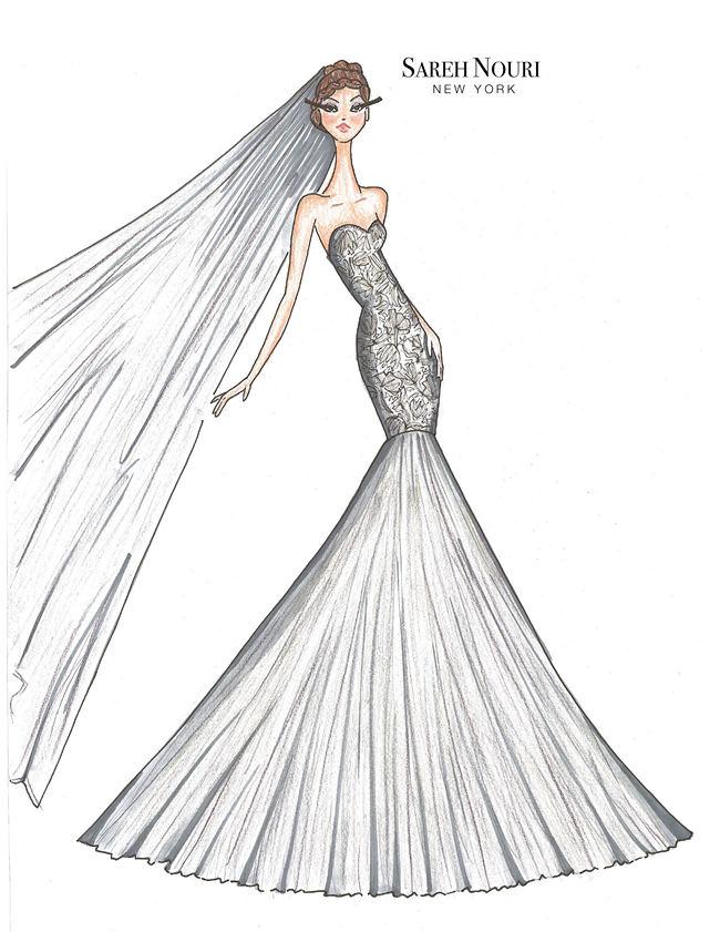 Wedding Dress Designer Sketches 11