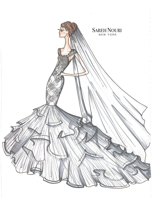 Wedding Dress Designer Sketches 12