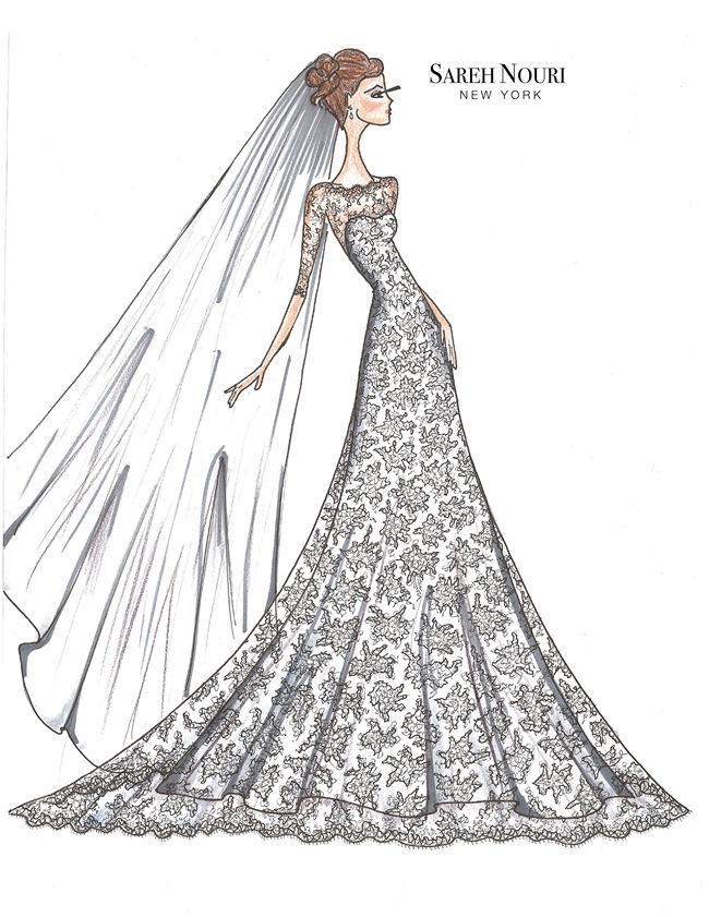 Wedding Dress Designer Sketches 1