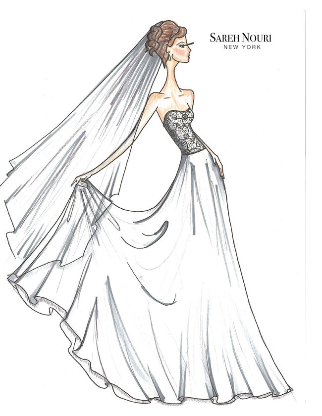 Wedding Dress Designer Sketches 2