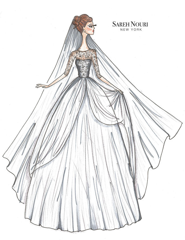 5a87bdda0e From Sketch to Gown  Wedding Dress Designer Sketches by Sareh Nouri