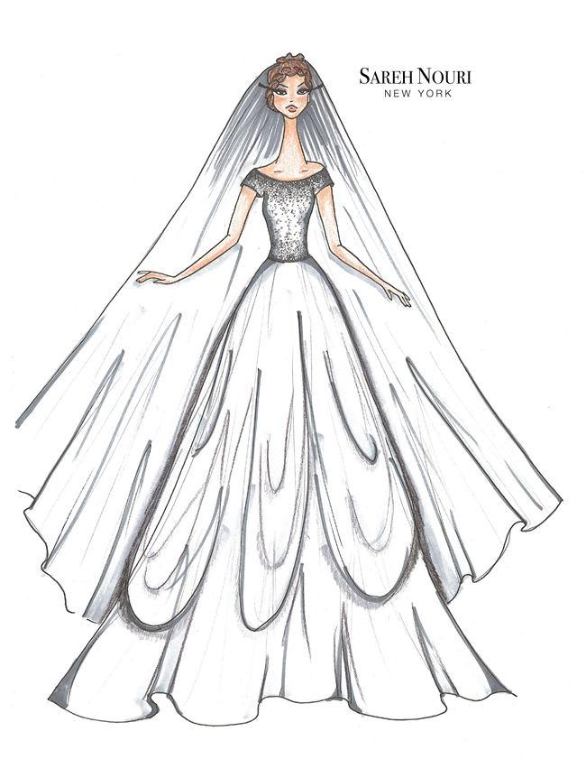 Wedding Dress Designer Sketches 5
