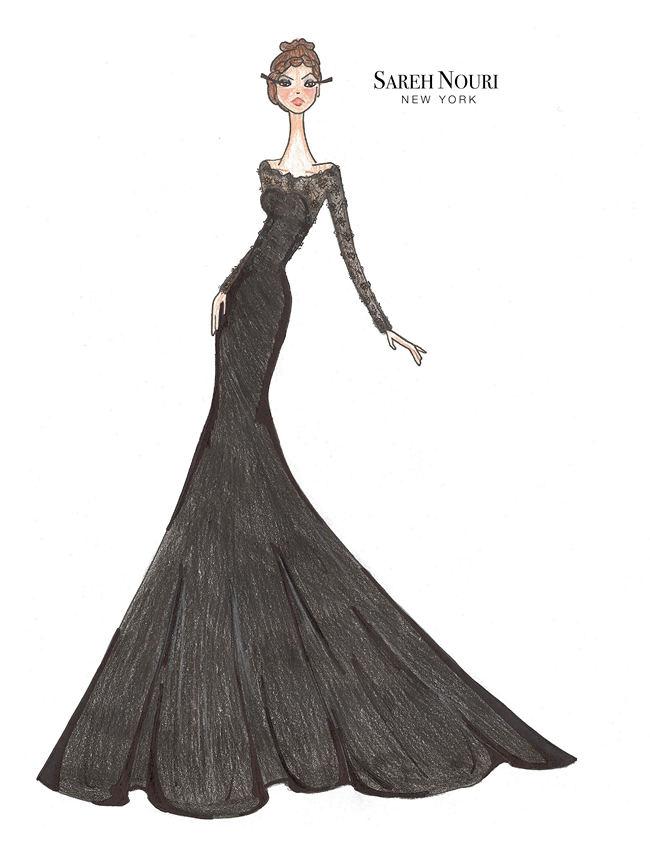Wedding Dress Designer Sketches 6