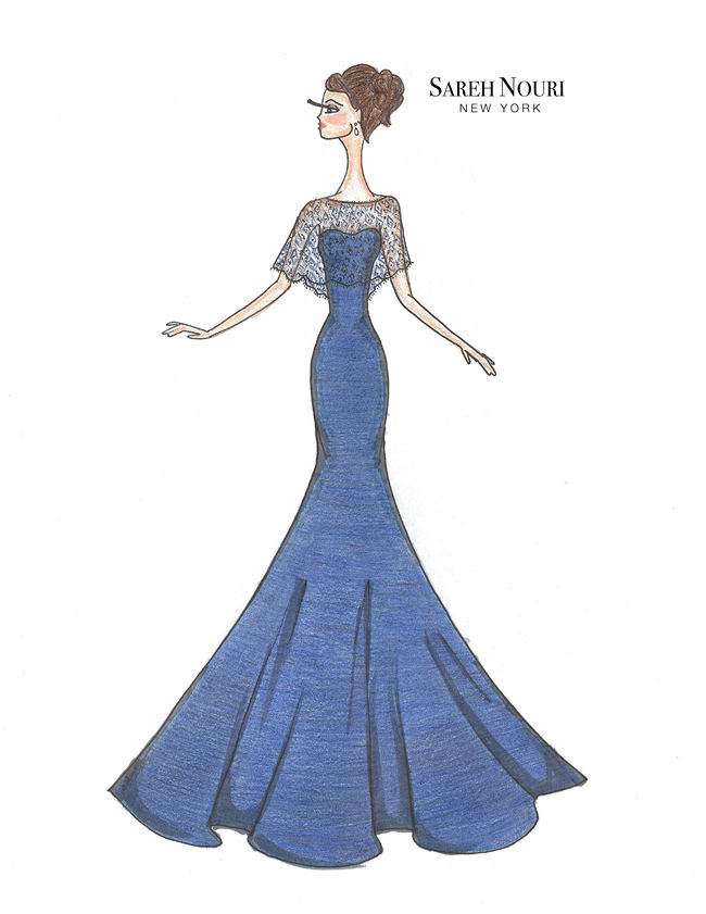 From Sketch To Gown Wedding Dress Designer Sketches 8