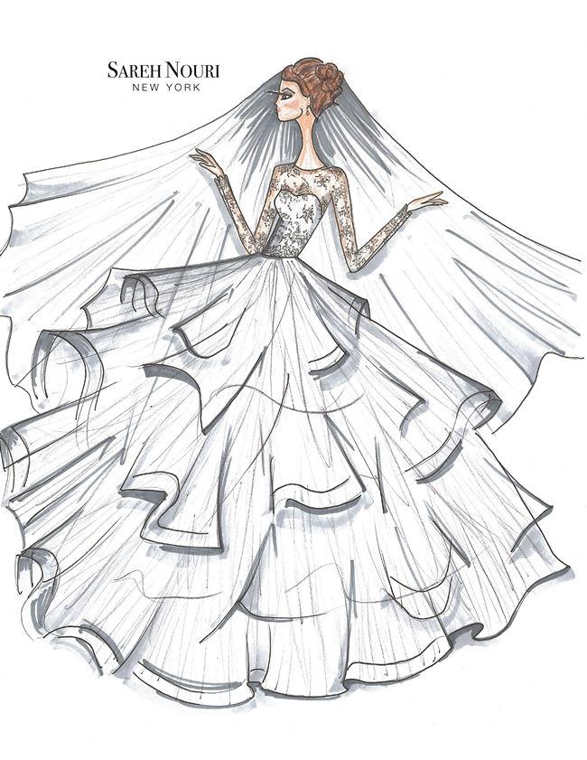 Wedding Dress Designer Sketches 8