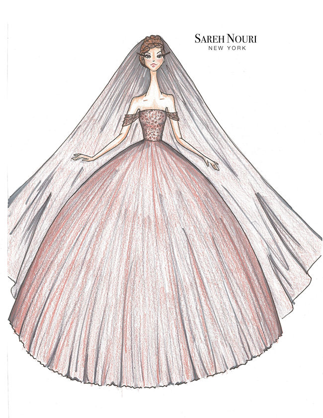 From Sketch To Gown Wedding Dress Designer Sketches 9