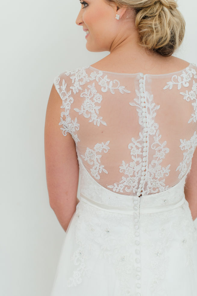 Lace backed wedding dress from Blush Bridal // Dehan Engelbrecht Photography